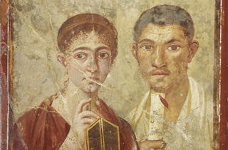 Baker Terentius Neo & wife (Soprintendenza Speciale per i Beni Archeologici di Napoli e Pompei / Trustees of the British Museum)