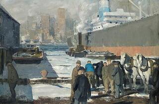 Men of the Docks, 1912  (Royal Academy of Arts)