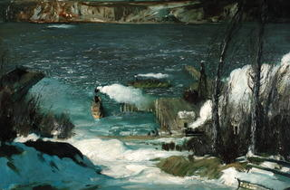 North River, 1908  (Pennsylvania Academy of the Fine Arts, Philadelphia, Joseph E. Temple Fund)