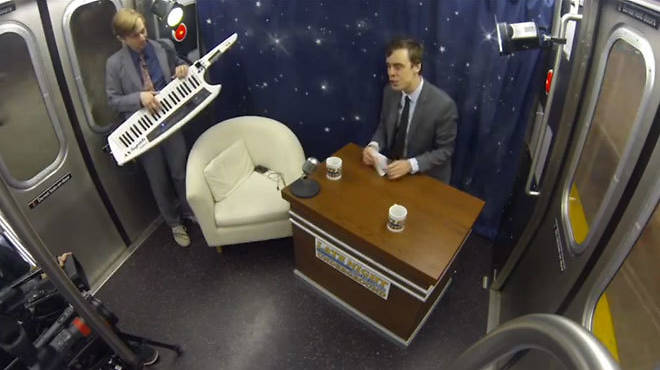 Talk Show Subway Car (video)