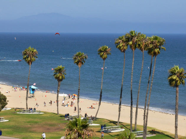 For a popular sunning spot: Leadbetter Beach