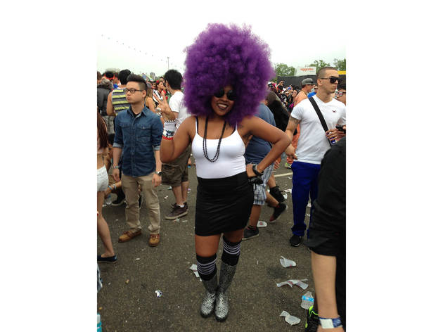 Street fashion at Electric Daisy Carnival New York 2013