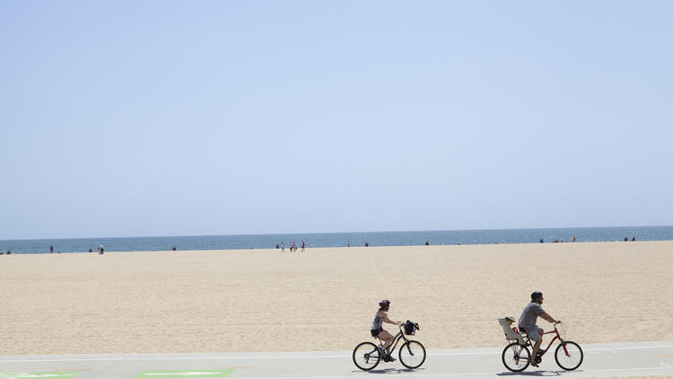 This is Santa Monica Beach. It looks like this in August, December, March—oh, and all those other months too.