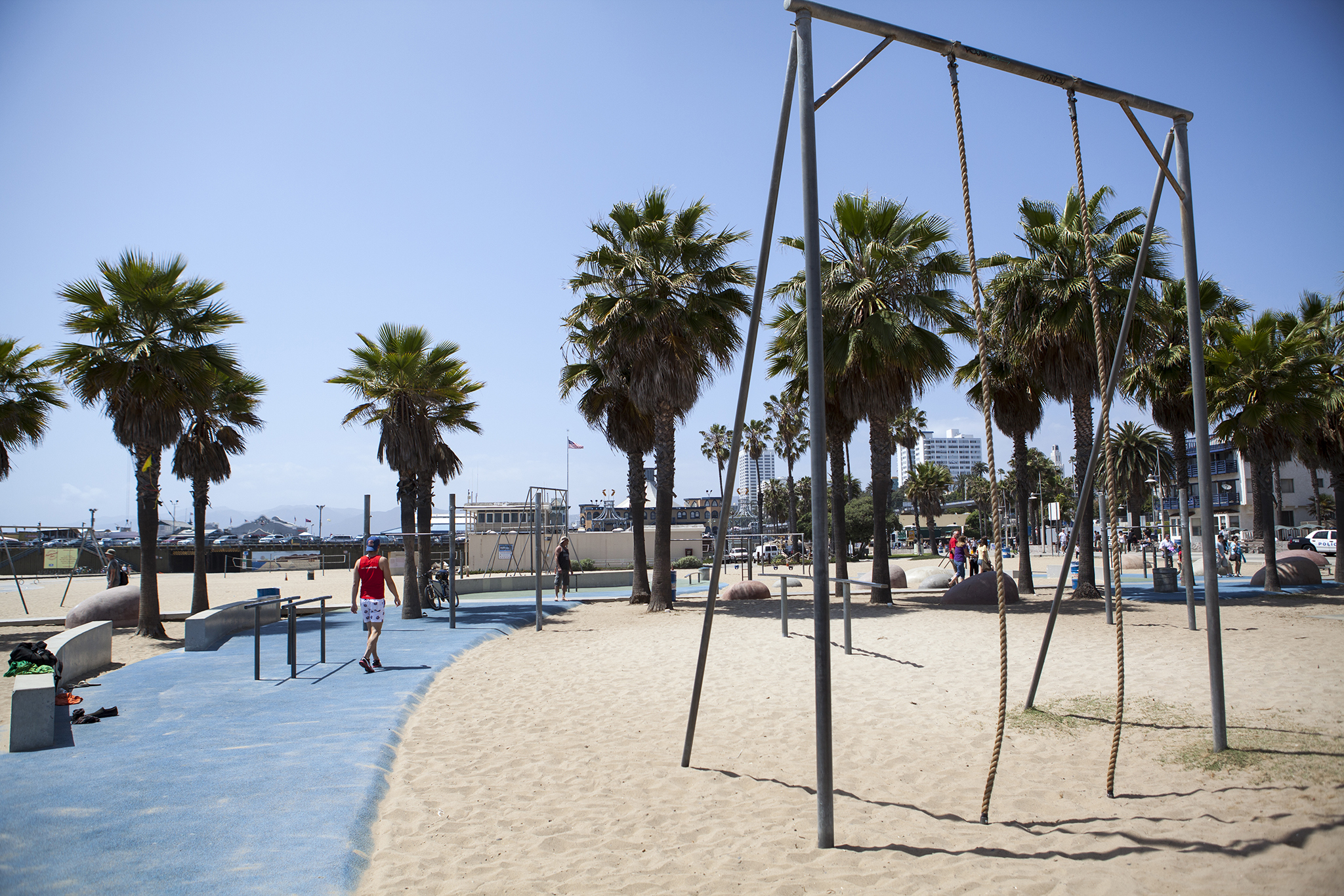 Flaunt your skills at SaMo's swings, rings and ropes