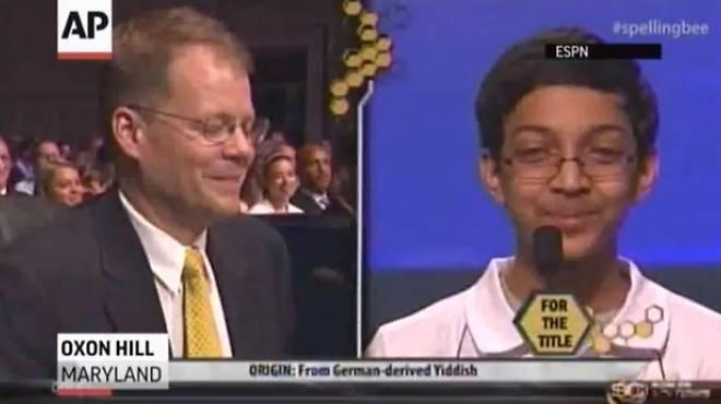 Arvind V. Mahankali at the Scripps National Spelling Bee