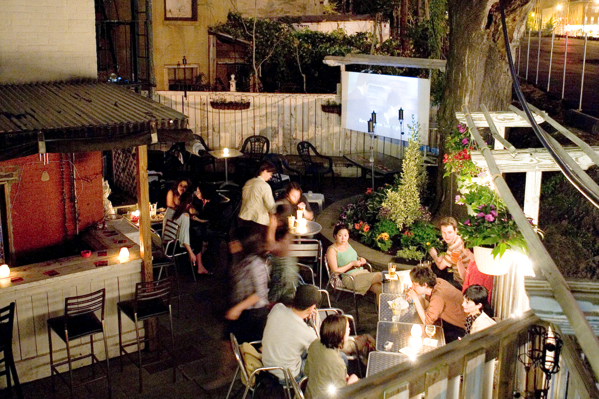 Bars with outdoor activities and games