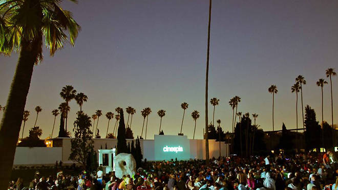 Outdoor movie screenings