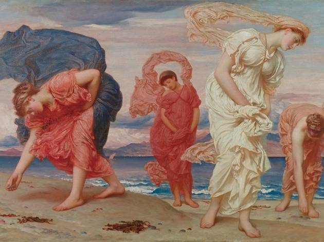 (Frederic Leighton, 'Jeunes filles grecques ramassant des galets au bord de la mer', 1871 / Colección Pérez Simón, Mexico / © Studio Sébert Photographe)