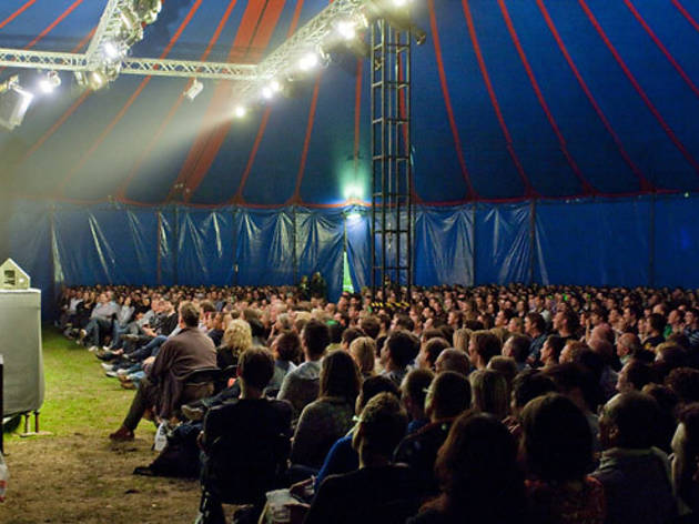 comedy tent, festival