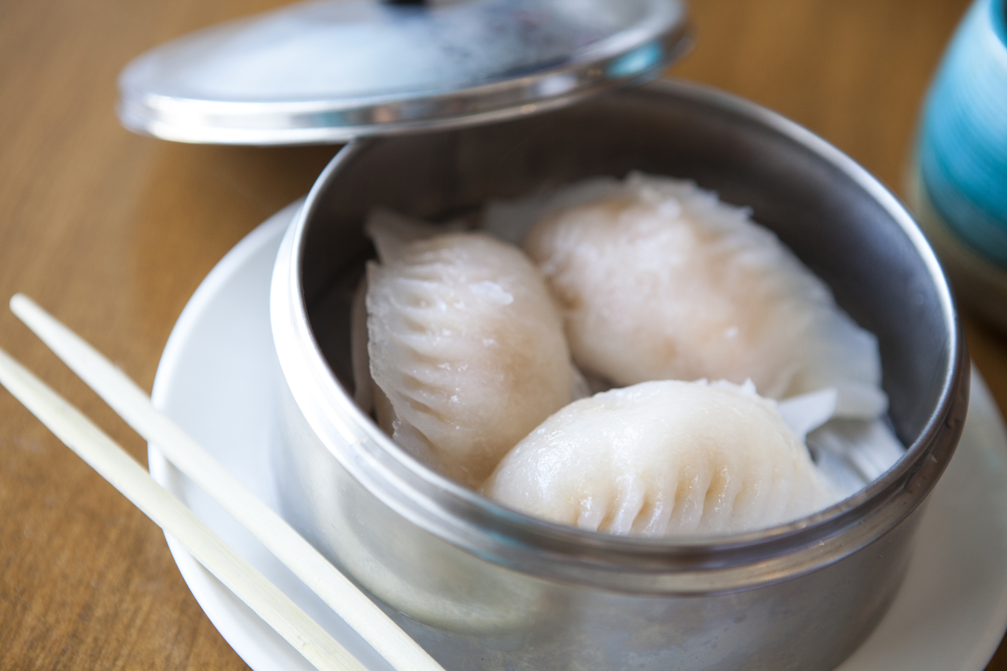 Crystal shrimp dumplings at Pingtung