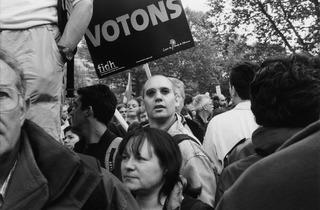 (Manifestation, place de la République, Paris, 2002 / © Costa-Gavras)