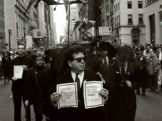 (Manifestation contre les ravages du SIDA, New York, 1990 / © Costa-Gavras)