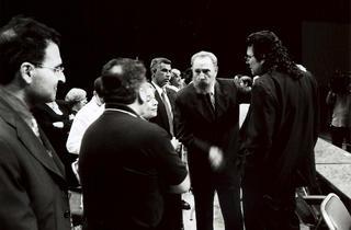 (Fidel Castro recoit des cinéastes européens, 2003 / © Costa-Gavras)