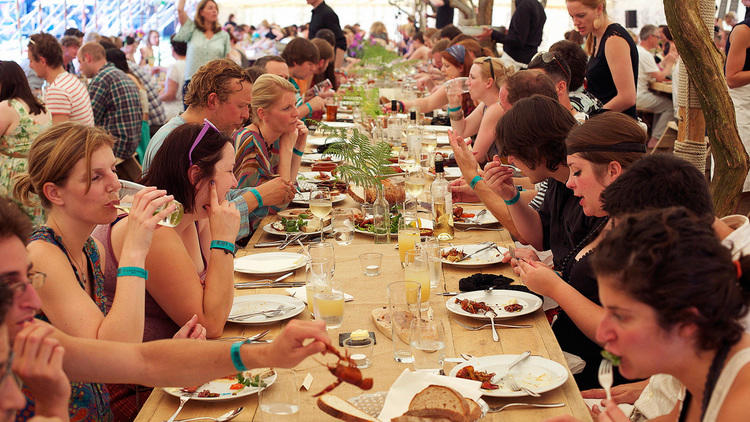 Wilderness festival banquet and line up