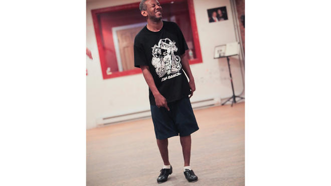 Marshall Davis Jr in a rehearsal for Savion Glover's Stepz.