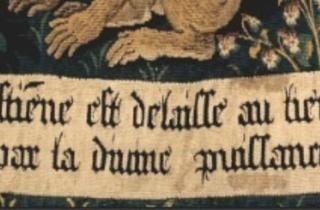 ('La Tenture de Saint Etienne', 'Scène 8 : Le corps du martyr exposé aux bêtes' (détail), c. 1500 / © Rmn-Grand Palais / Jean- Gilles Berizzi)