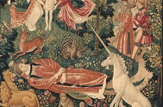 ('La Tenture de Saint Etienne', 'Scène 8 : Le corps du martyr exposé aux bêtes', c. 1500)