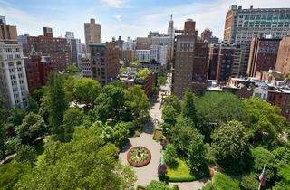 View of Gramercy Park from Gramercy Park Hotel's terrace