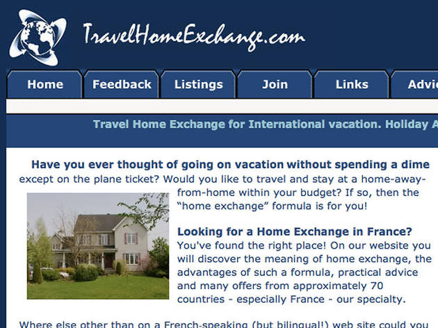 Travel home exchange