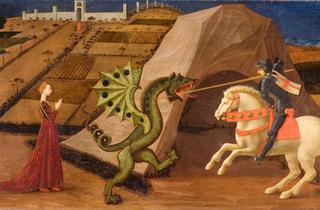 (Paolo Uccello, 'Saint Georges terrassant le dragon', c. 1430-1435 / Paris, musée Jacquemart-André  - Institut de France / © C. Recoura)