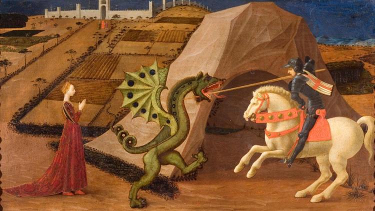 Paolo Uccello, 'Saint Georges terrassant le dragon', c. 1430-1435 / Paris, musée Jacquemart-André  - Institut de France / © C. Recoura