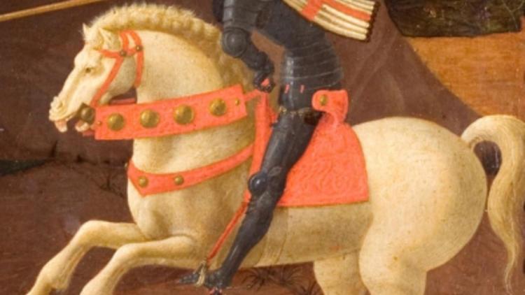 Paolo Uccello, 'Saint Georges terrassant le dragon' (détail), c. 1430-1435 / Paris, musée Jacquemart-André  - Institut de France / © C. Recoura