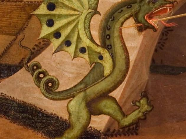 (Paolo Uccello, 'Saint Georges terrassant le dragon' (détail), c. 1430-1435 / Paris, musée Jacquemart-André  - Institut de France / © C. Recoura)