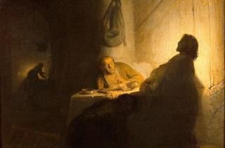 (Rembrandt, 'Les Pèlerins d'Emmaüs', c. 1628 / Paris, musée Jacquemart -André  - Institut de France / © C. Recoura)