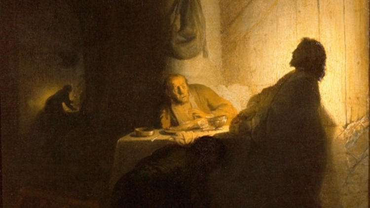 Rembrandt, 'Les Pèlerins d'Emmaüs', c. 1628 / Paris, musée Jacquemart -André  - Institut de France / © C. Recoura