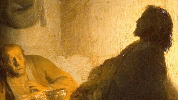 Rembrandt, 'Les Pèlerins d'Emmaüs' (détail), c. 1628 / Paris, musée Jacquemart -André  - Institut de France / © C. Recoura