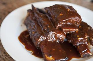 BBQ beef ribs at La Gondolla