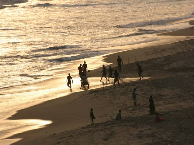 Football on the beach in Accra
