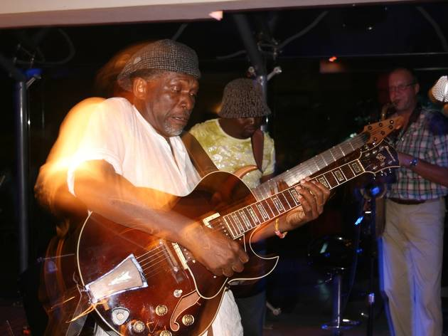 Guitarist playing highlife at +233 Jazz Bar, Accra, Ghana