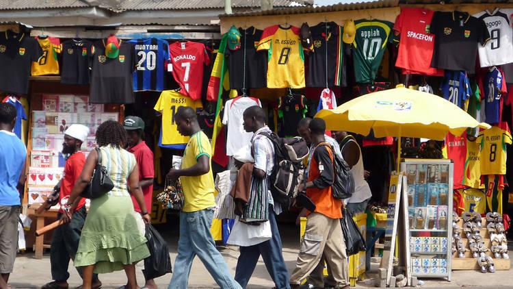 Oxford Street in Osu, Accra, Ghana