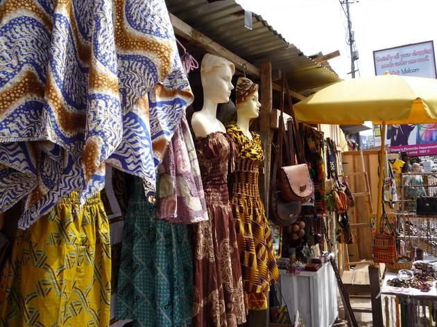 Street market in Osu, Ghana, Accra