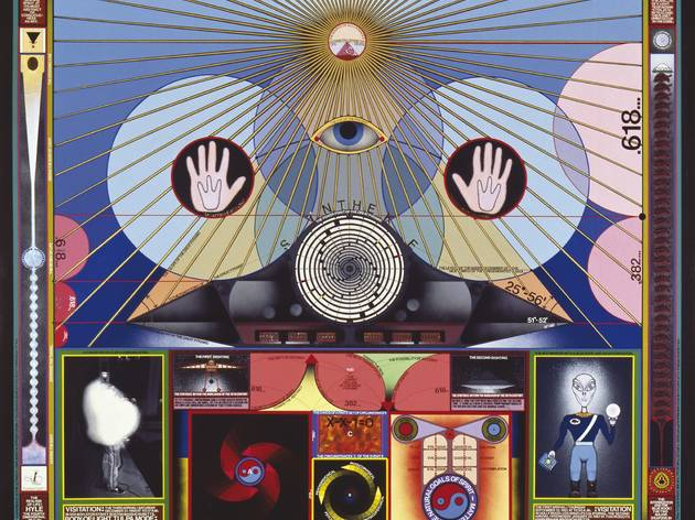 'The Thanaton III' (by Paul Laffoley, © the artist)