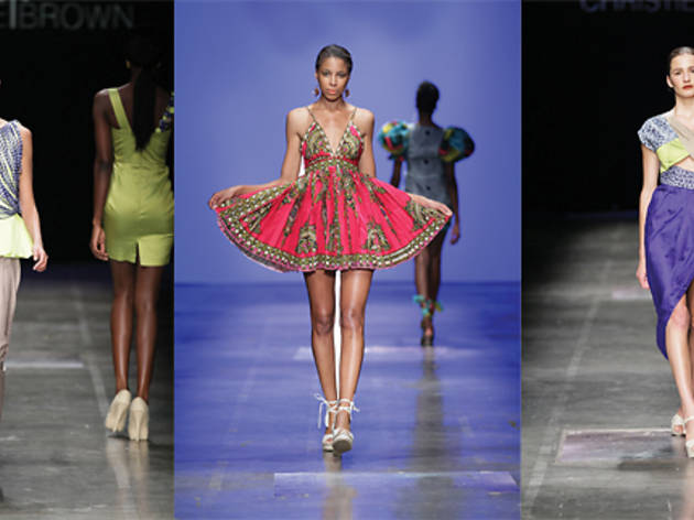 Christie Brown on the catwalk, Ghana, Accra, fashion