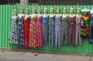 Fashion stall on Oxford Street, Osu, Accra, Ghana