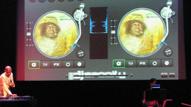 DJ Spooky Mixing App Party