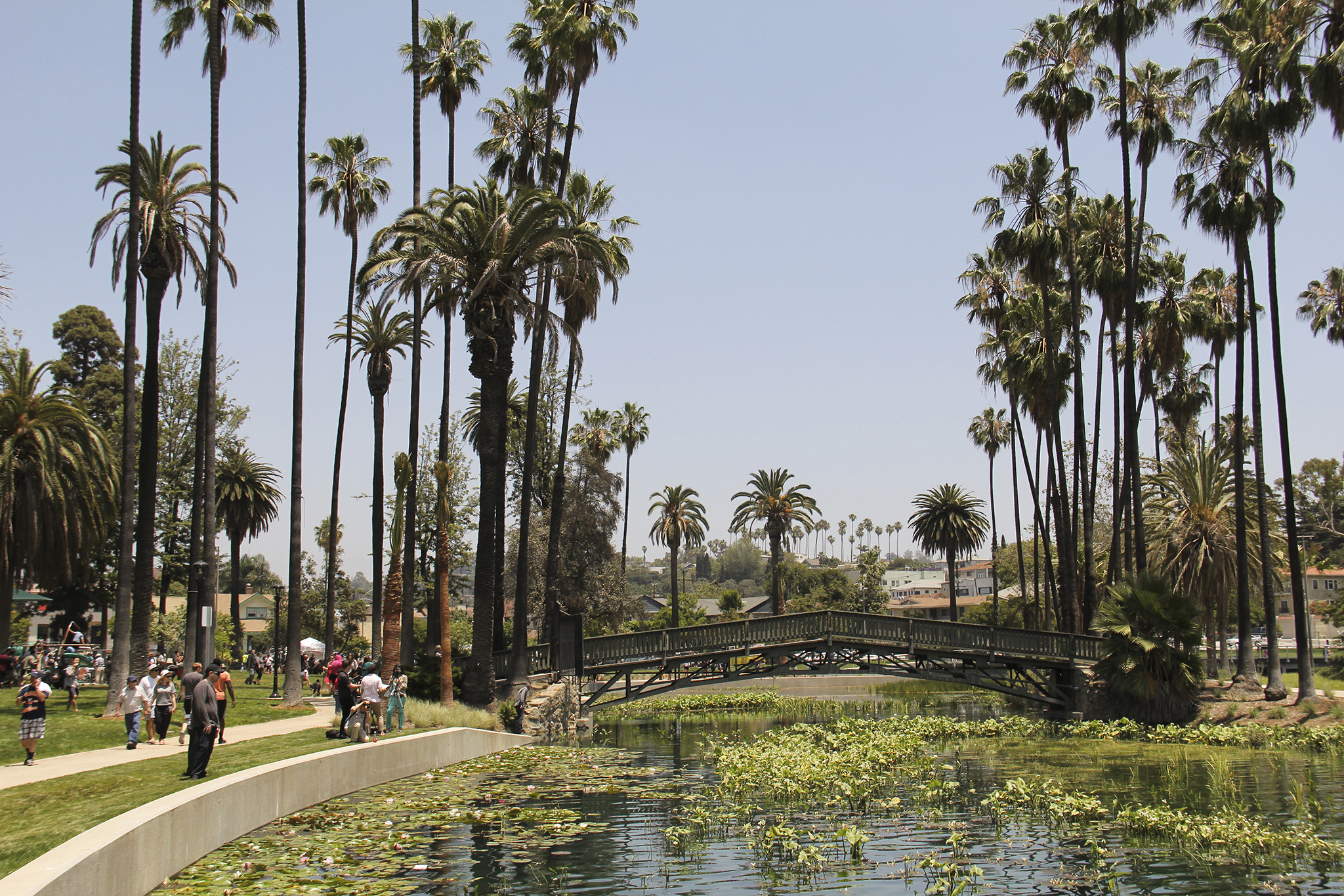 Picnic at Echo Park Lake