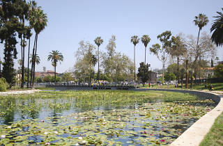 The Floating Library on Echo Park Lake