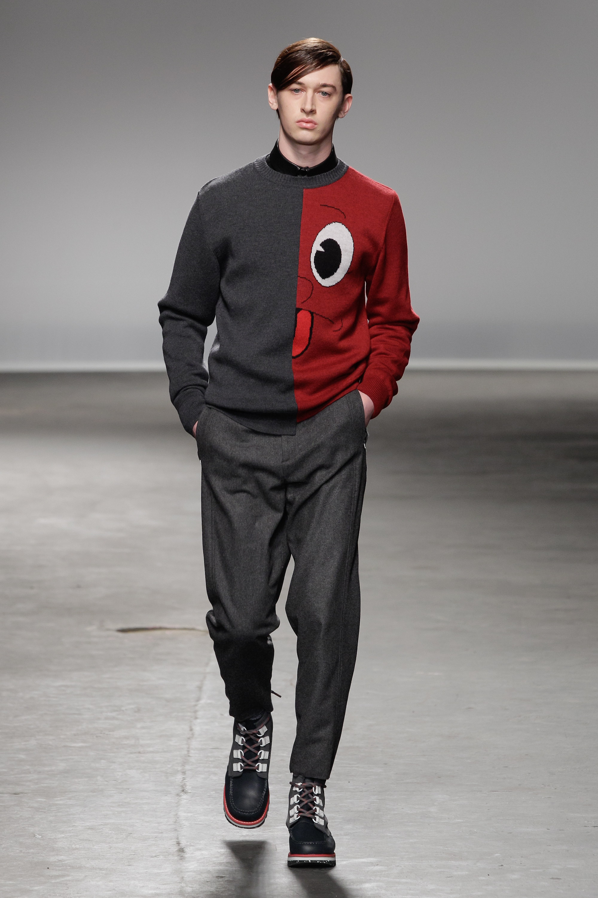 The googly eye top: Christopher Shannon