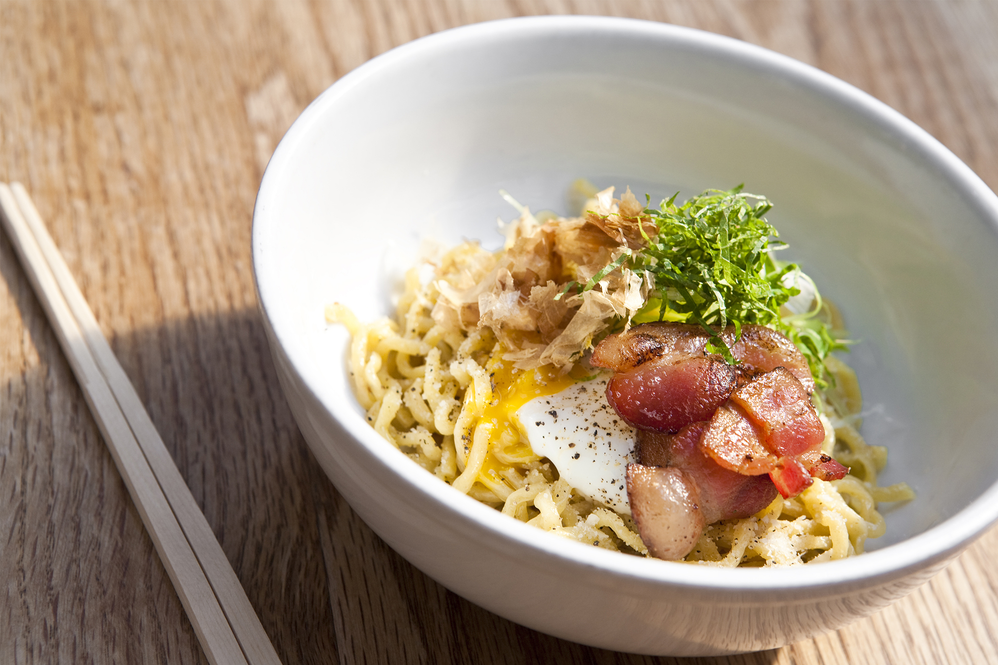 Bacon and Egg Mazemen at Yuji