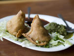 Samosas at Five Star Punjabi Diner