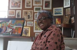Frances Ademola at her Loom gallery, Accra, Ghana