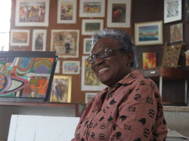 Frances Ademola at her Loom gallery, Accra, Ghana