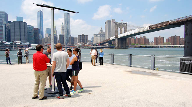 AT&T Street Charge station in Brooklyn Bridge Park