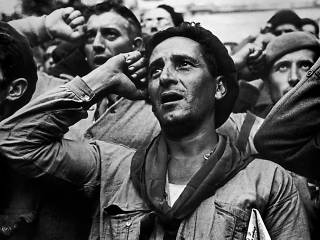 Robert Capa, 'Bidding farewell to the International Brigades, Spain, October 25th', 1938