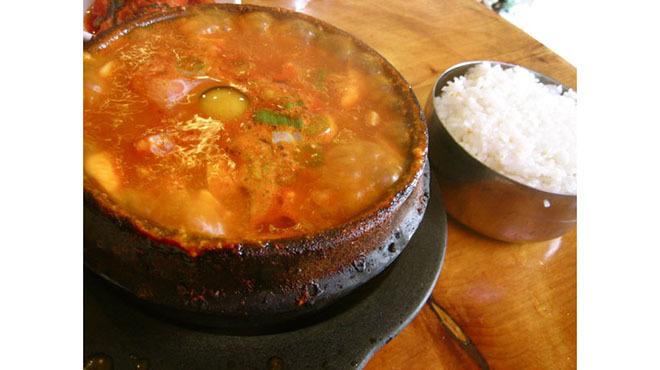 beverly soon tofu, Soon doo boo very hot at Beverly Soon Tofu, spiciest dishes, food and drink, tofu, korean food, koreatown