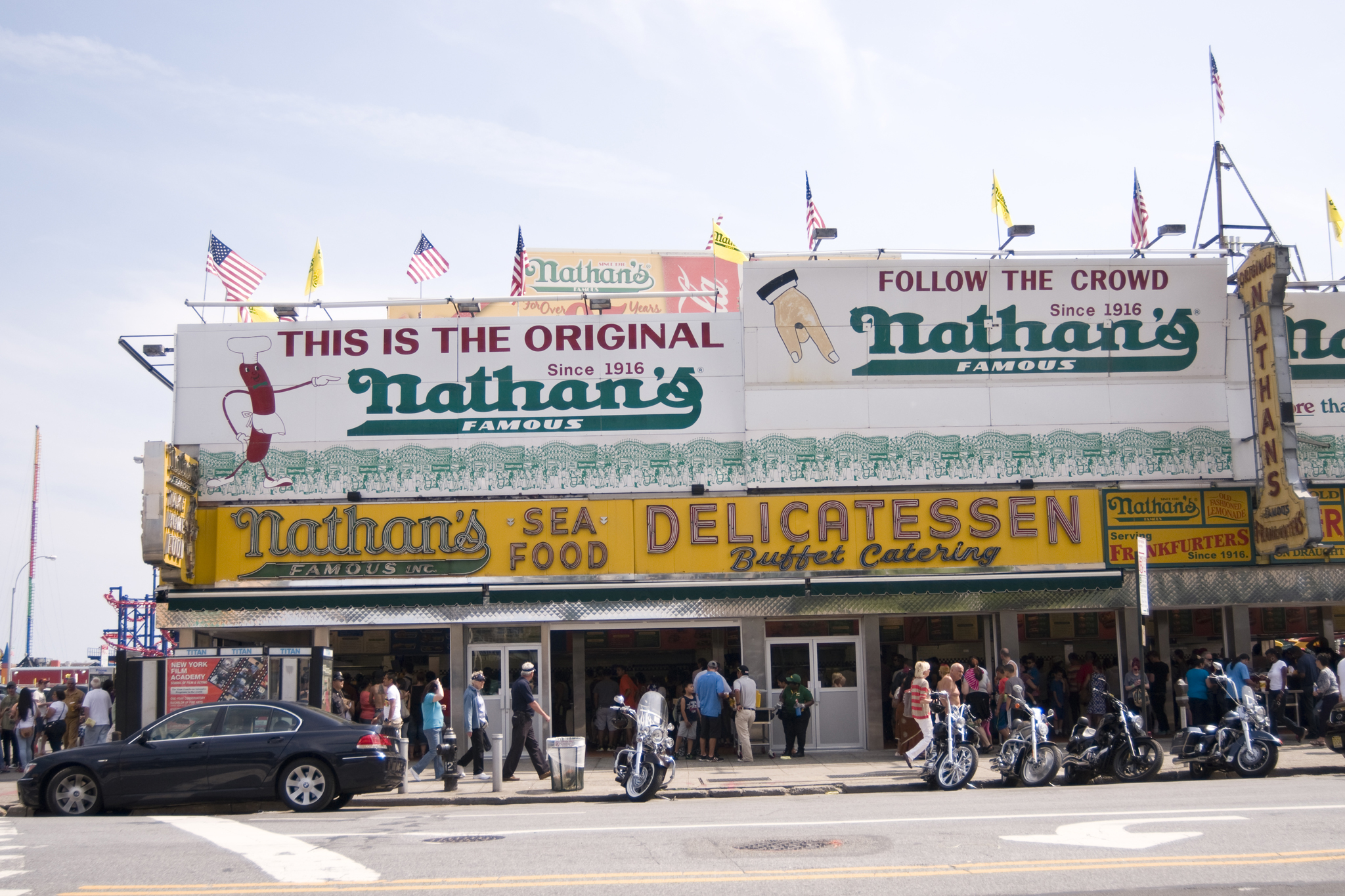 Chow down on a Nathan's Famous Hot Dog